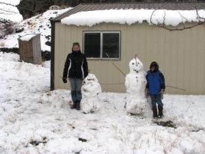 Kids and Snowmen